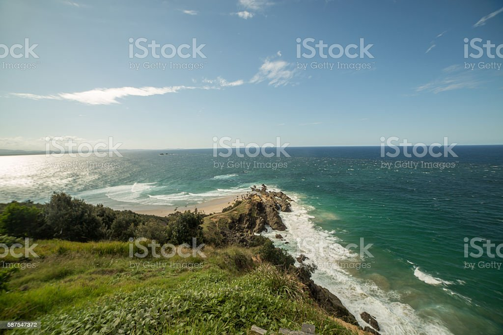 Cape Byron in Byron Bay, easterly point of Australia stock photo