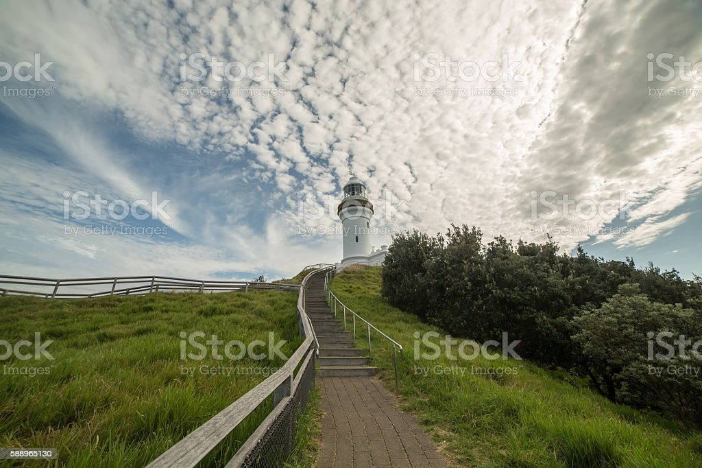 Cape Byron lighthouse, Australia stock photo