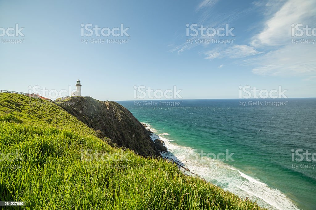 Cape Byron lighthouse, Byron Bay, Australia stock photo
