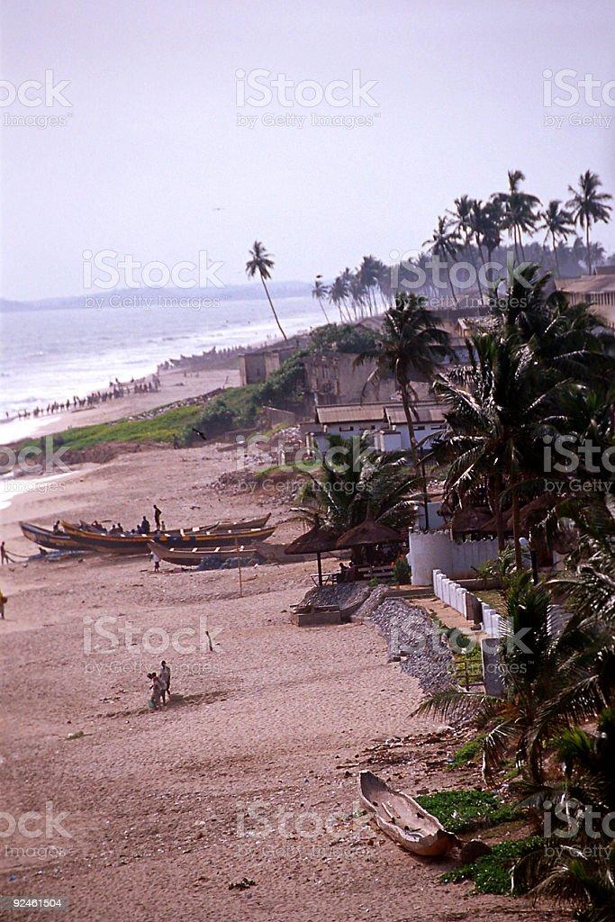 cape coast beach royalty-free stock photo