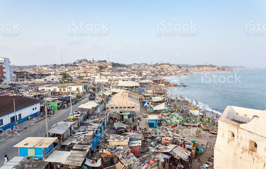 Cape Coast Cityscape, Ghana stock photo