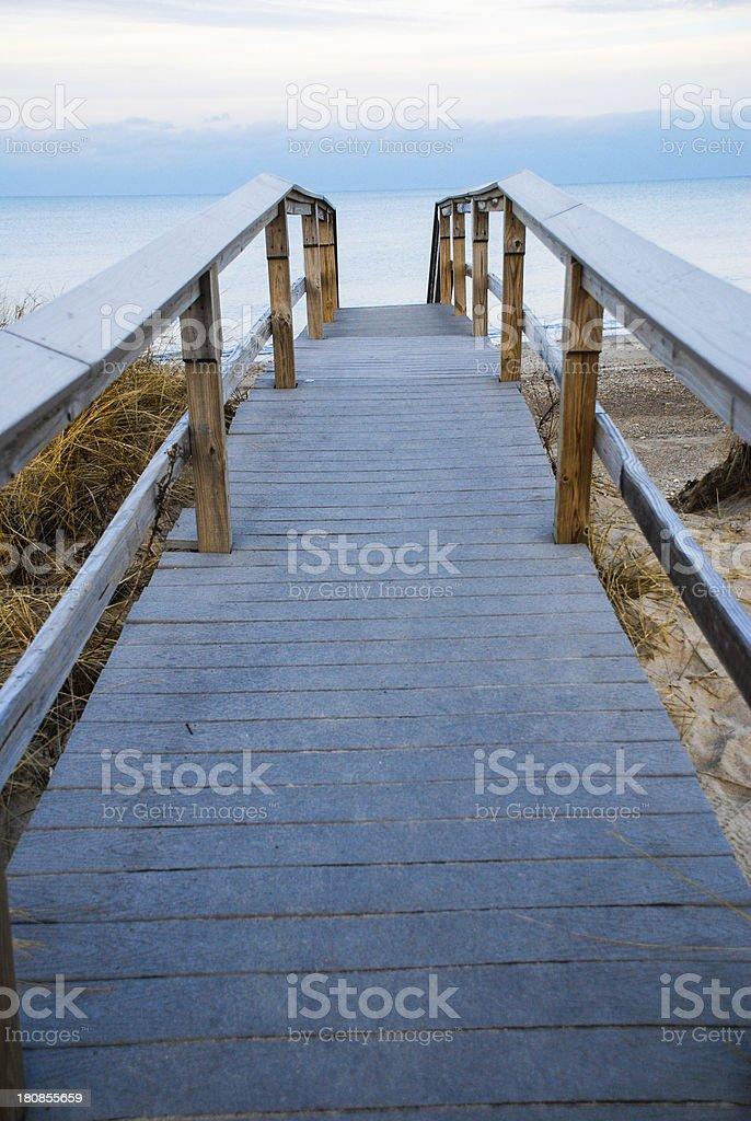 Cape Cod Boardwalk royalty-free stock photo