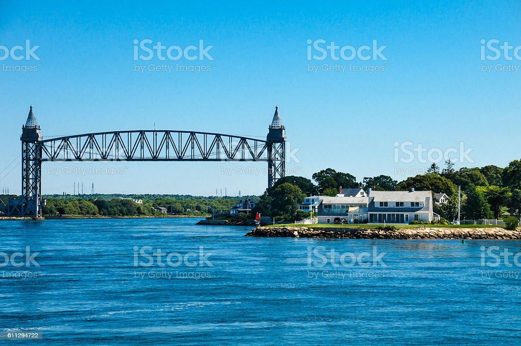 Cape Cod Canal Railroad Bridge stock photo