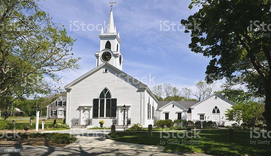 Cape Cod Chapel stock photo
