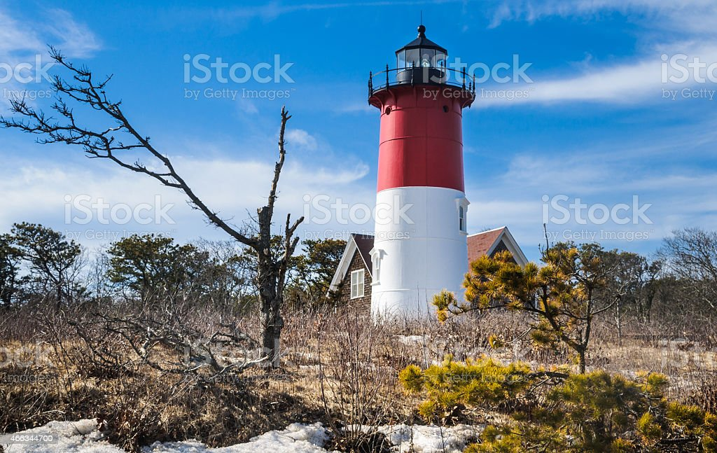 Cape Cod Coastal Beacon stock photo