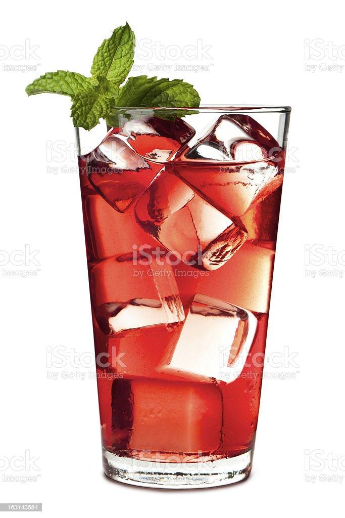Cape Cod Cranberry Juice Isolated on White Background stock photo