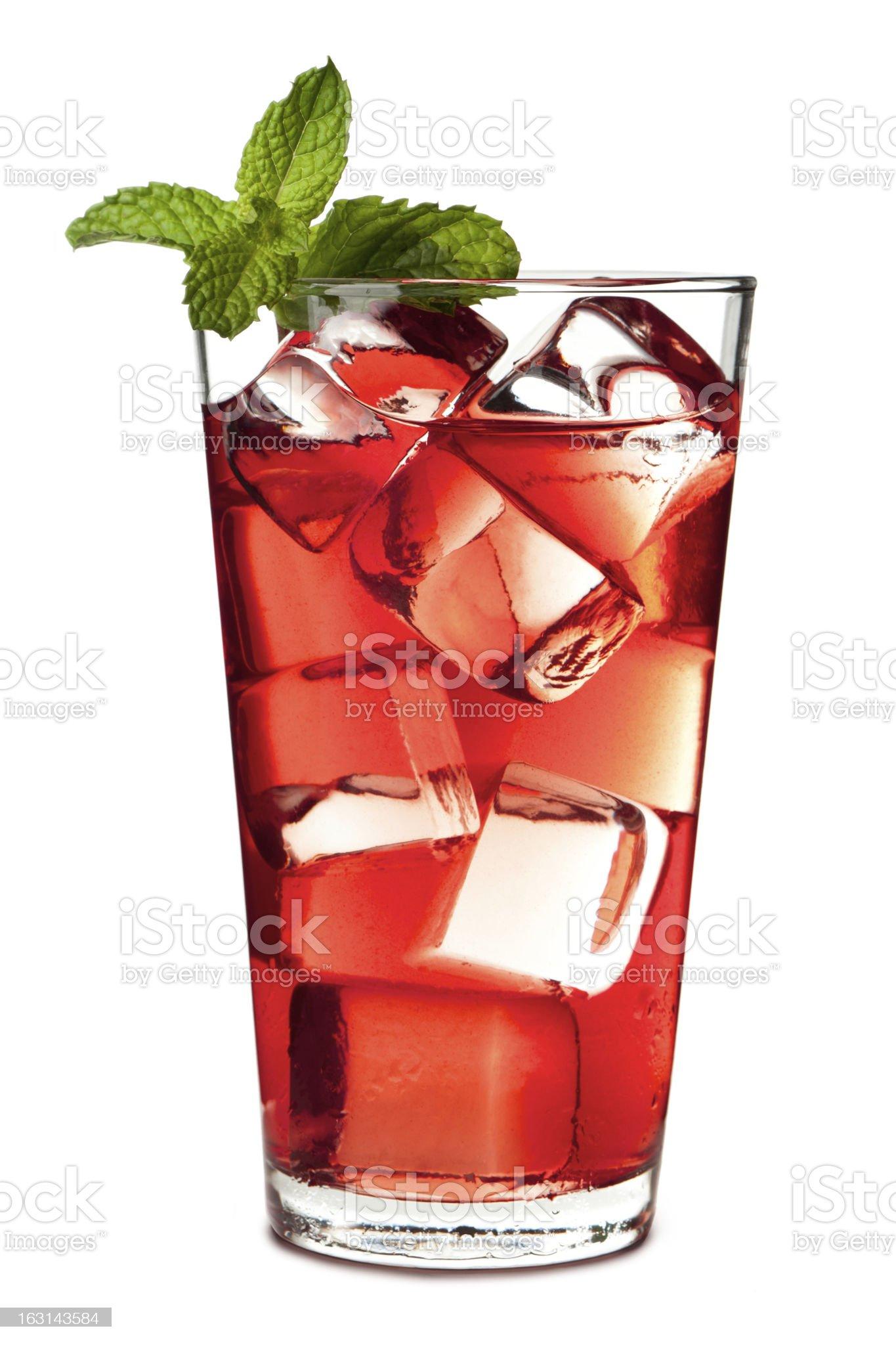 Cape Cod Cranberry Juice Isolated on White Background royalty-free stock photo