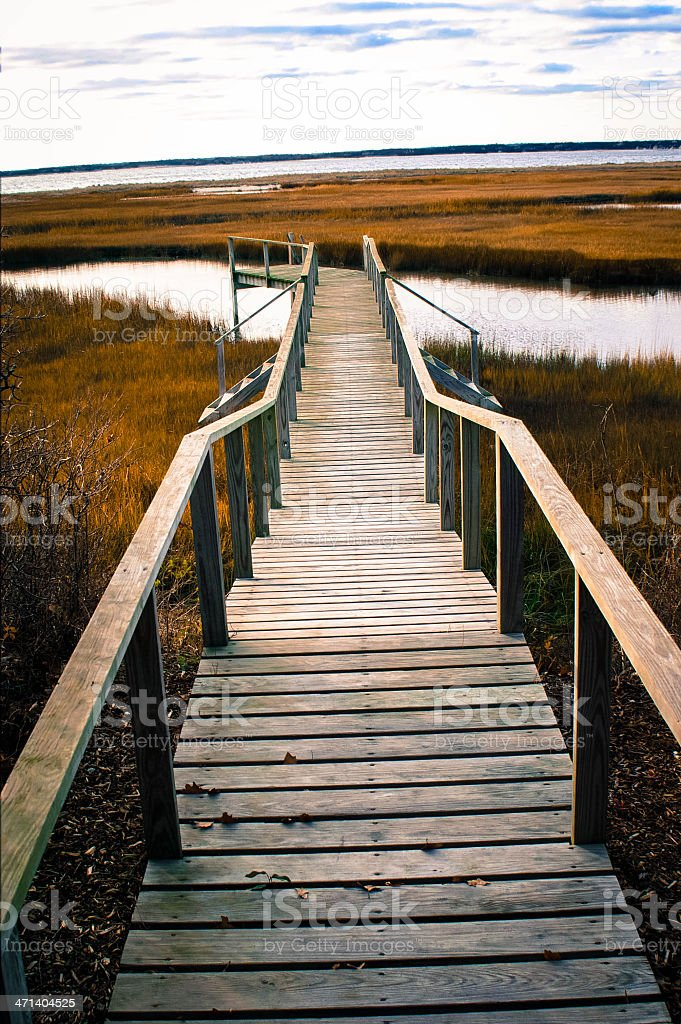 Cape Cod Dock as Art royalty-free stock photo