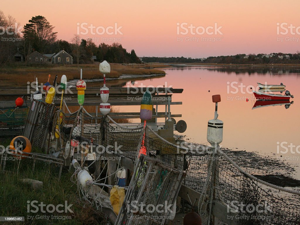 Cape Cod Fishing Gear royalty-free stock photo