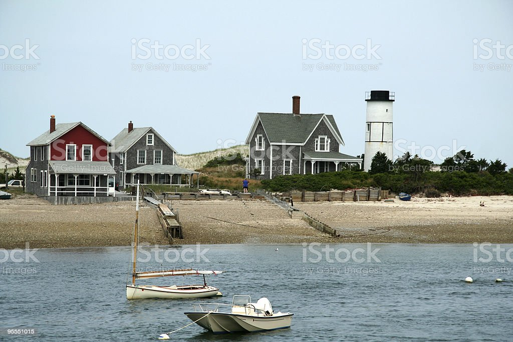 Cape Cod Houses stock photo