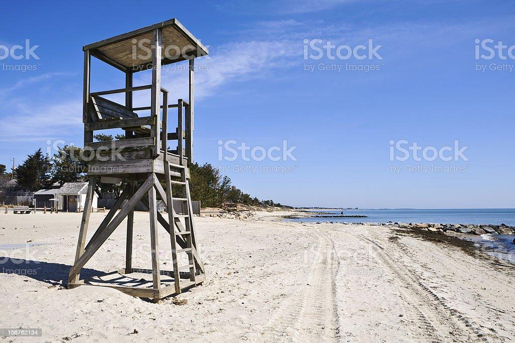 Cape Cod Lifeguard Stand stock photo