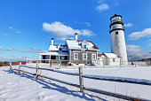 Cape Cod Lighthouse in Winter