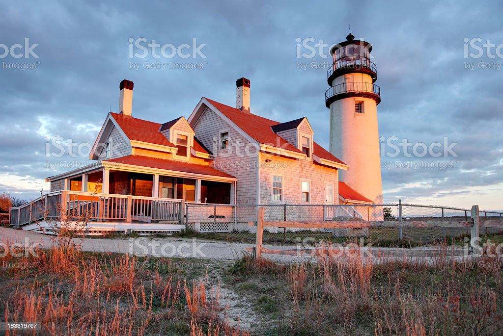 Cape Cod Lighthouse stock photo