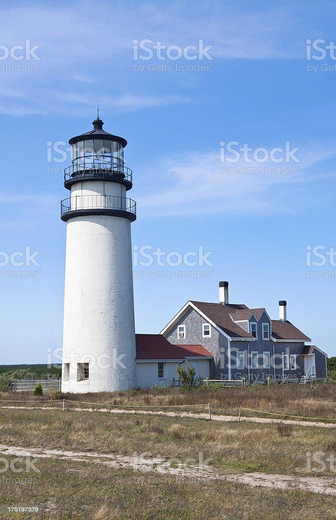 Cape Cod (Highland) Lighthouse, Truro, Ma royalty-free stock photo