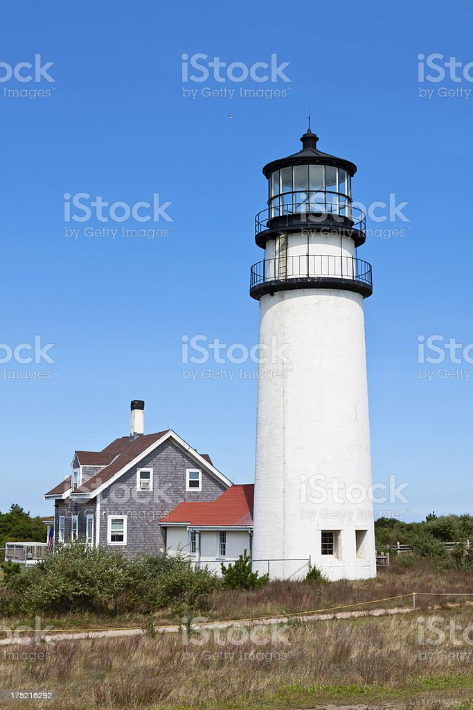 Cape Cod (Highland) Lighthouse, Truro, Ma royalty-free stock photo