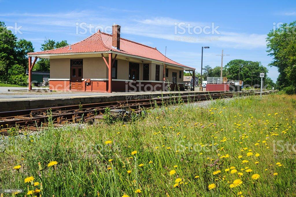 Cape Cod Railroad Station stock photo
