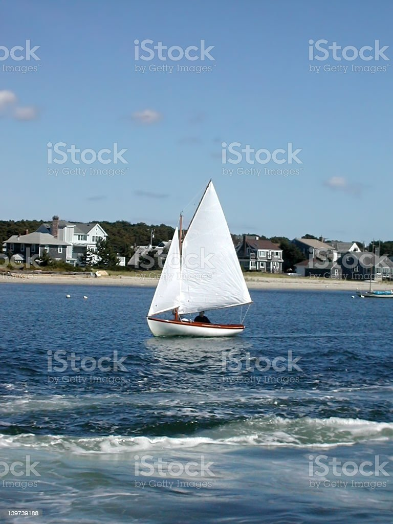 Cape Cod Sailboat royalty-free stock photo