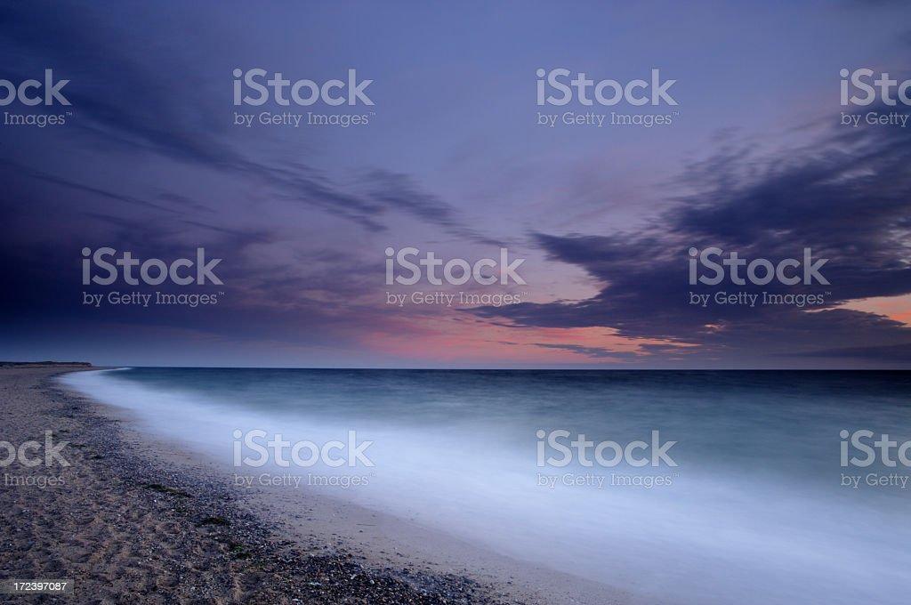 Cape Cod Sunset royalty-free stock photo