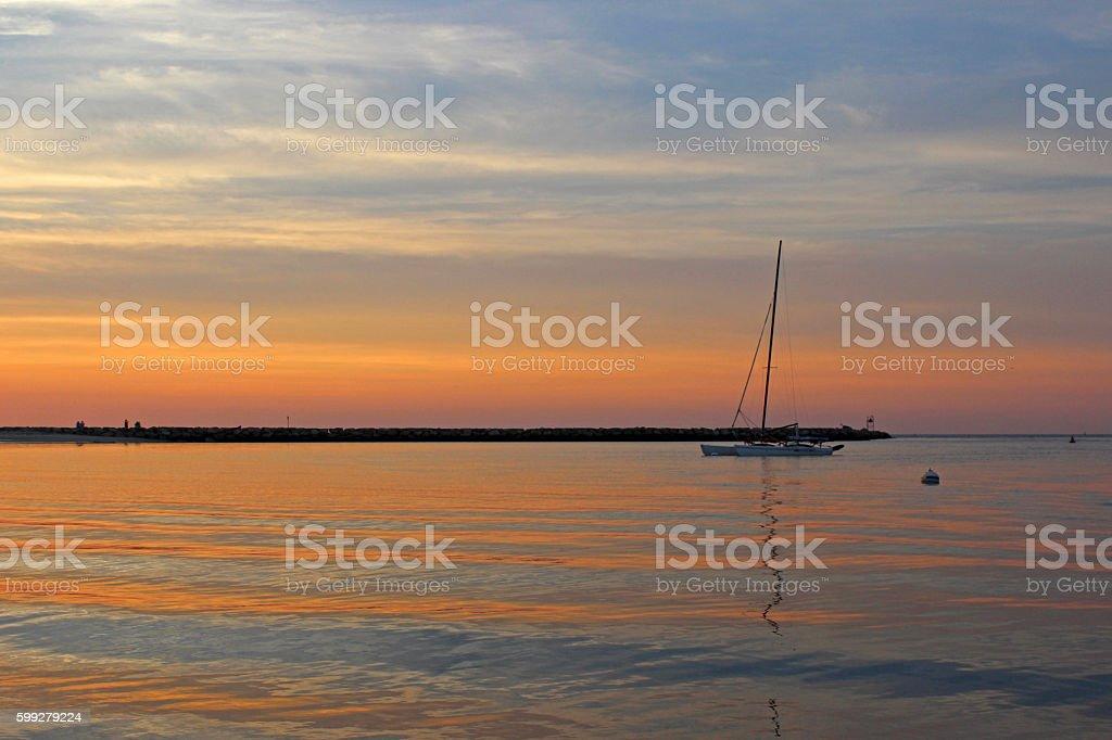 Cape Cod Sunset stock photo