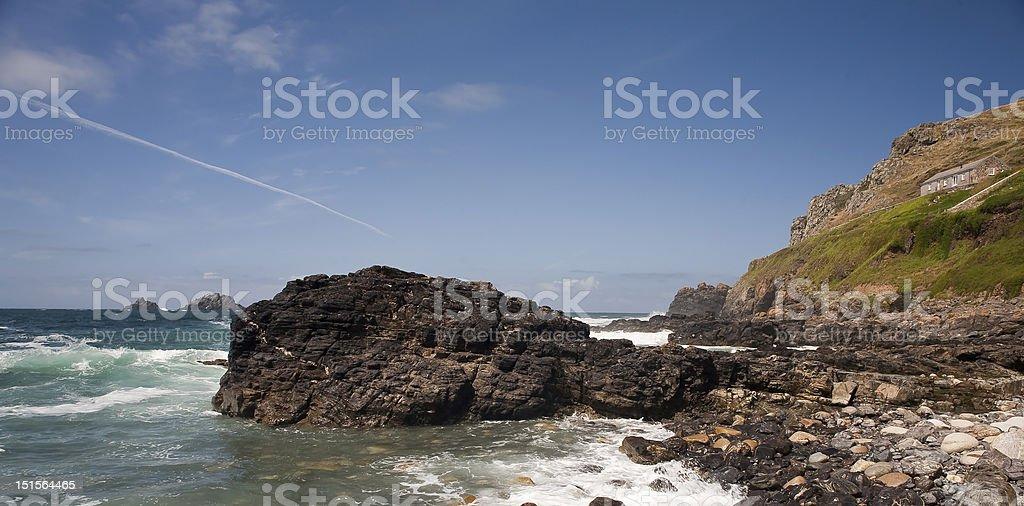 Cape Cornwall stock photo