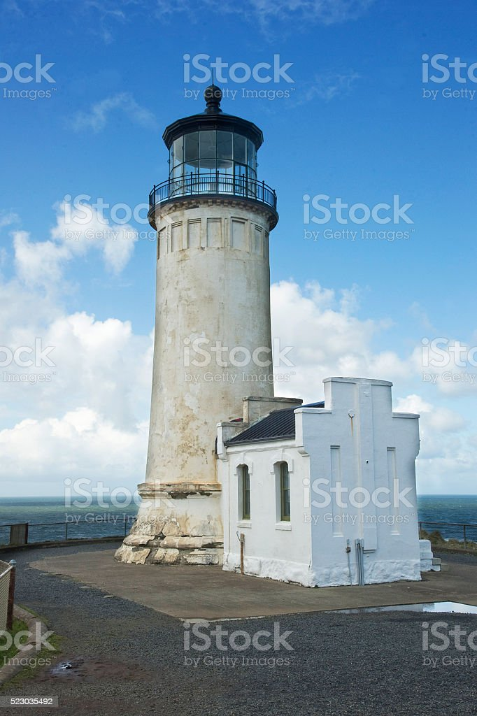 Cape Disappointment Light House stock photo
