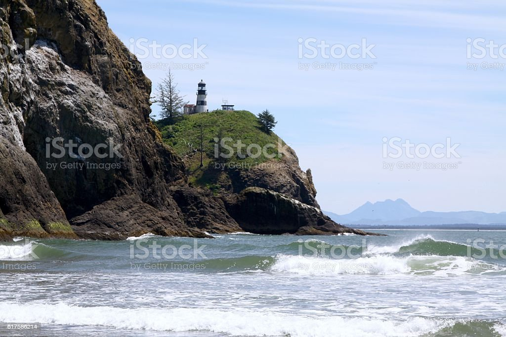 Cape Disappointment Lighthouse stock photo
