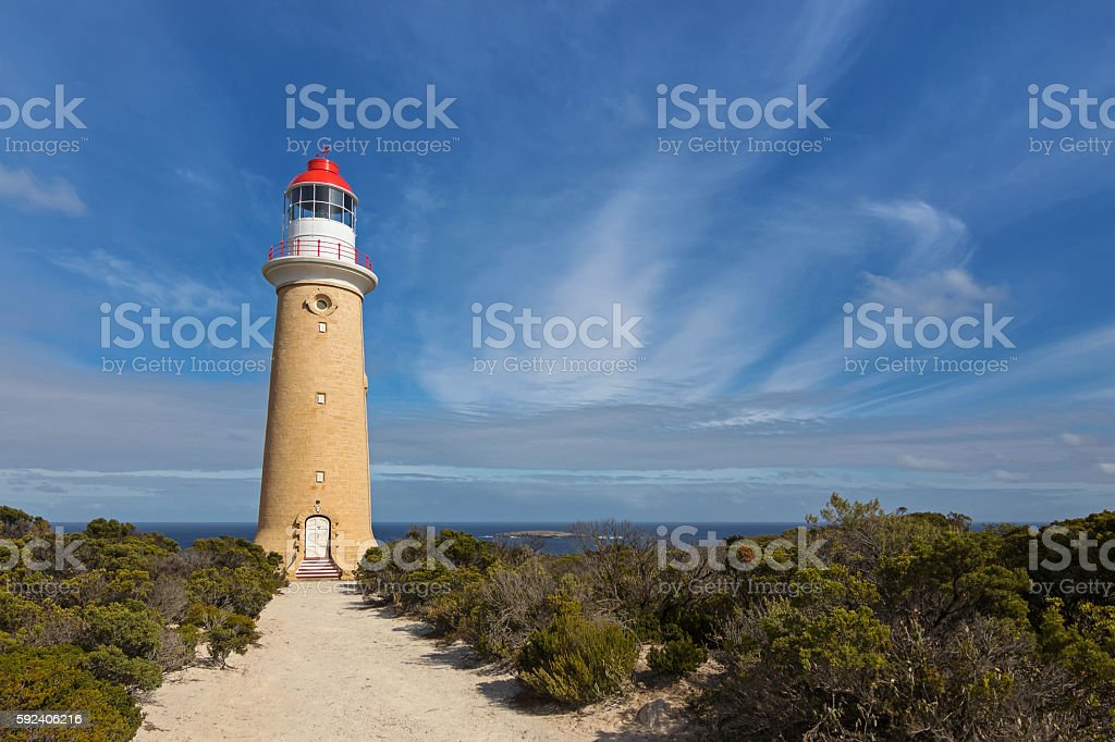 Cape du Couedic Lighthouse station in Flinders Chase National Park stock photo