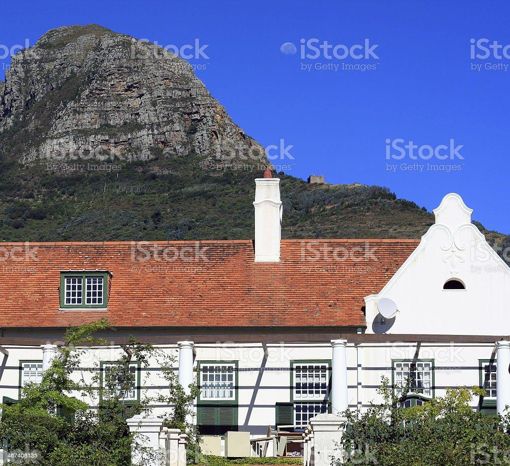 Cape Dutch architecture in South Africa stock photo