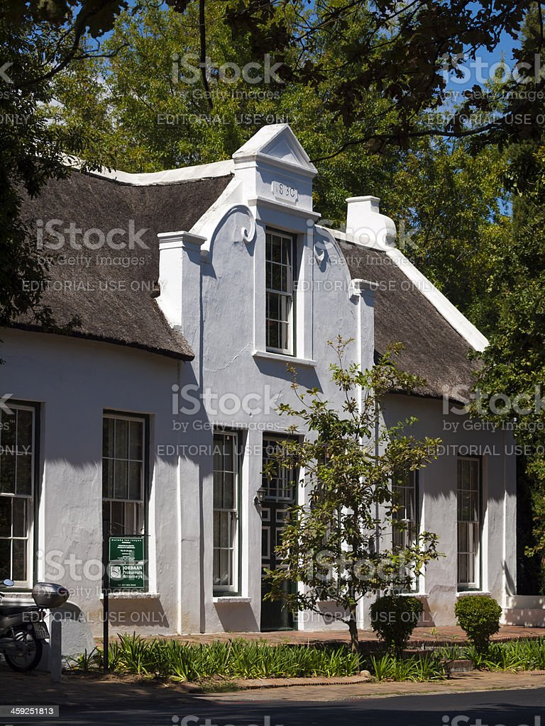 Cape Dutch Building in Stellenbosch, South Africa royalty-free stock photo