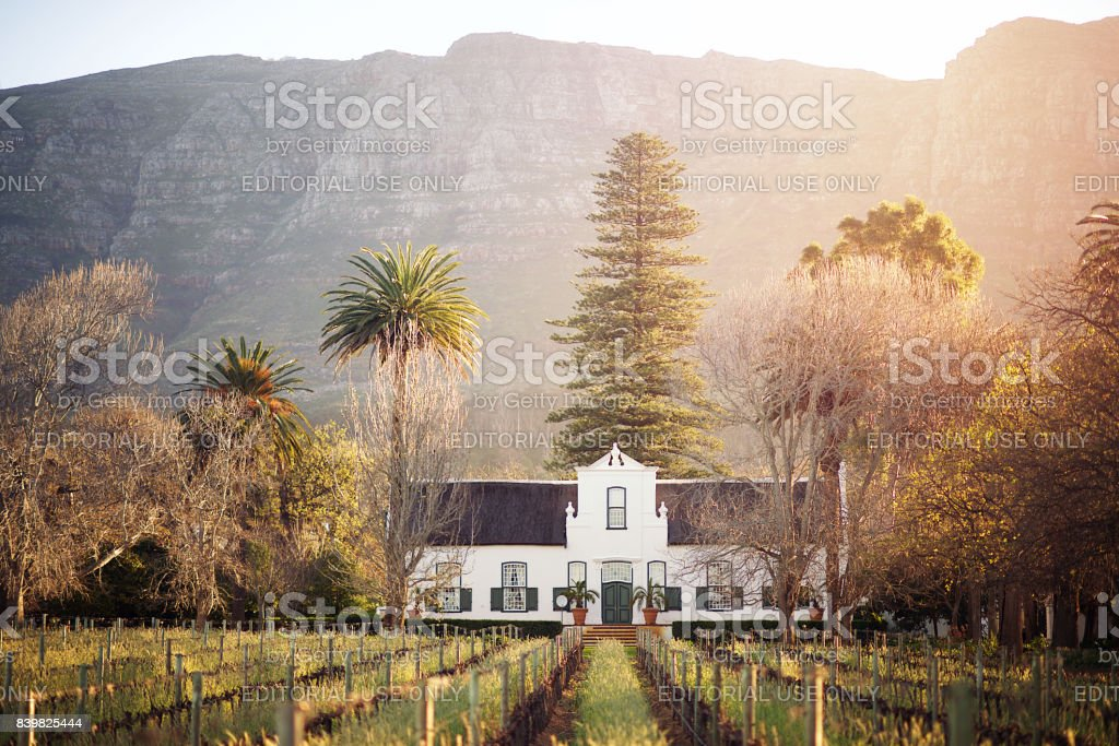 Cape Dutch Winelands Architecture stock photo