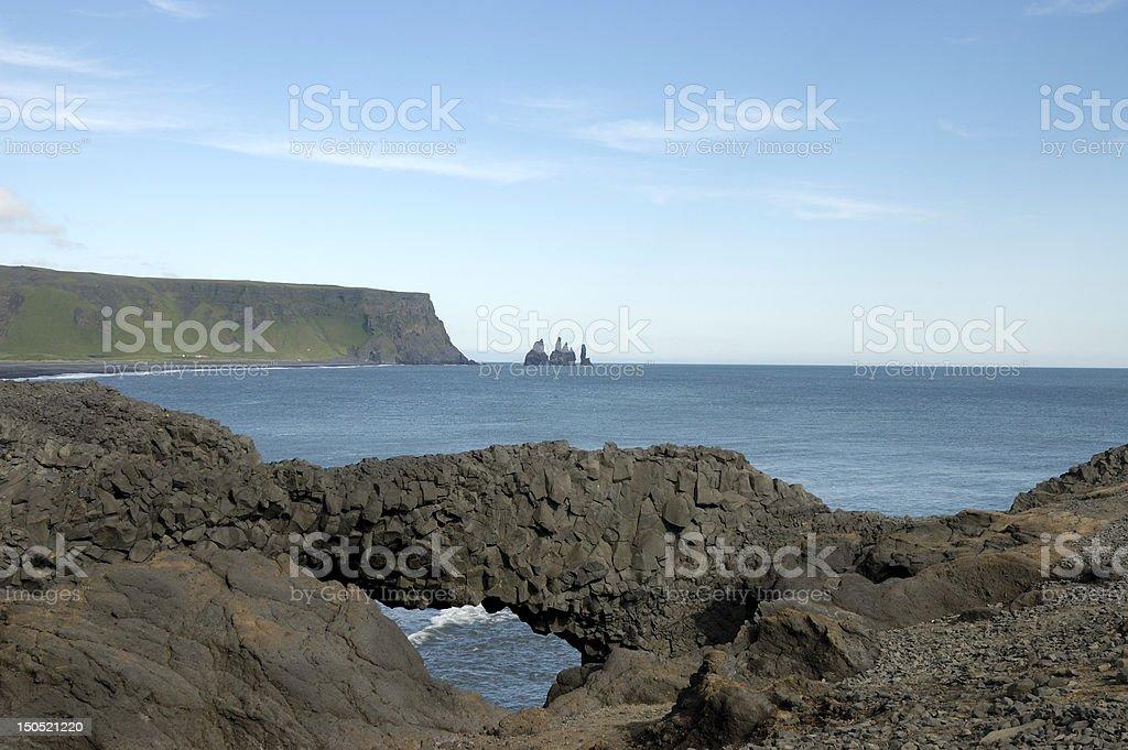 Cape Dyrholaey coast, Iceland royalty-free stock photo
