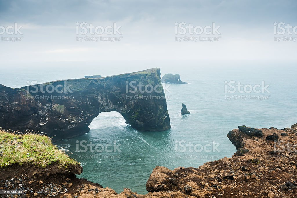 Cape Dyrholaey in southern Iceland stock photo