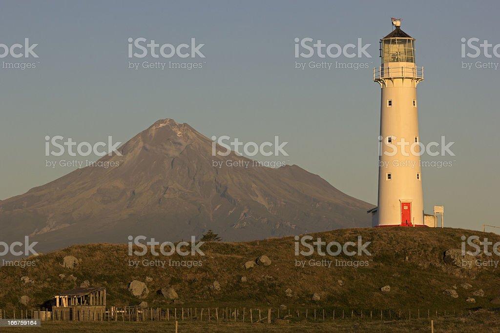 Cape Egmont Lighthouse stock photo