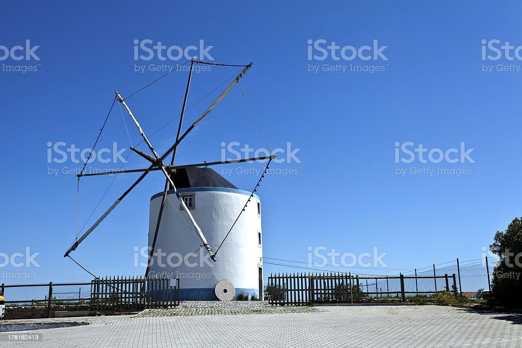 Cape Espichel Windmill, Portugal royalty-free stock photo