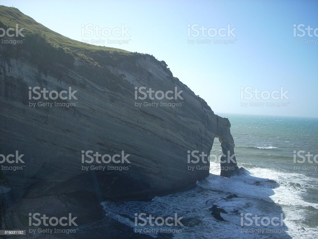 Cape Farewell Arch stock photo