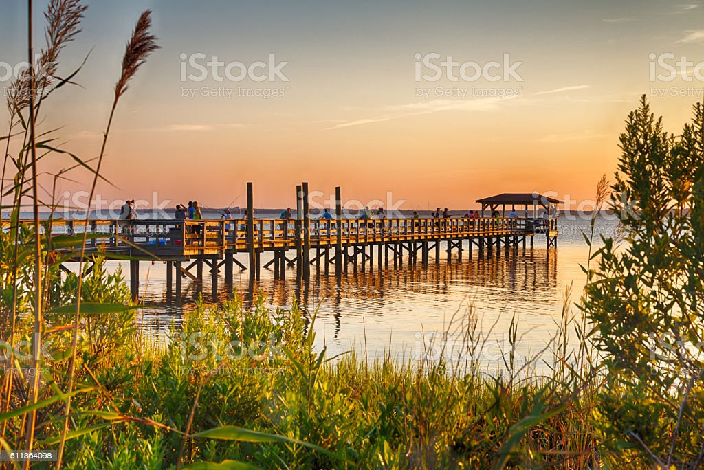 Cape Fear River stock photo