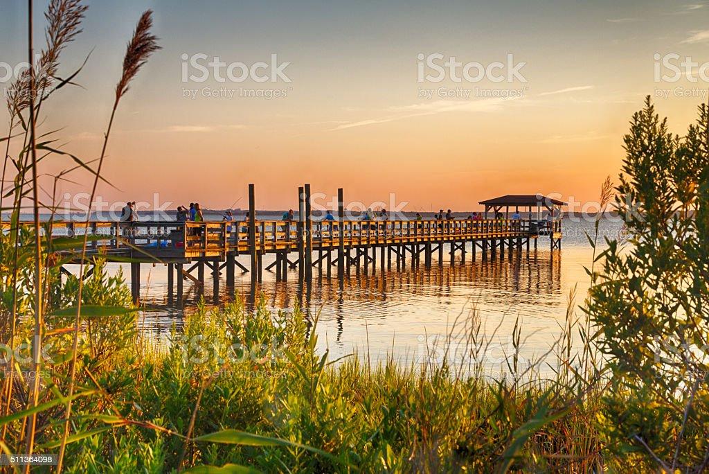 Cape Fear River stock photo