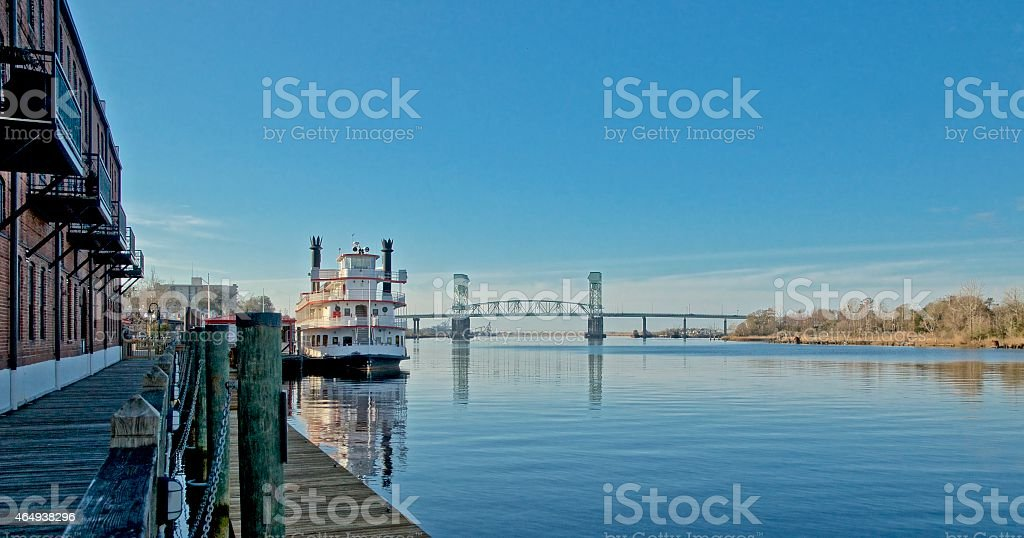 Cape Fear River, Wilmington, NC stock photo
