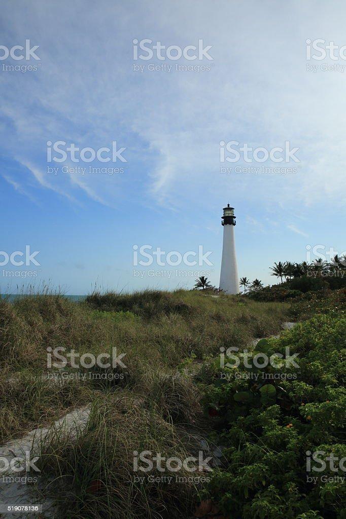 Cape Florida light stock photo