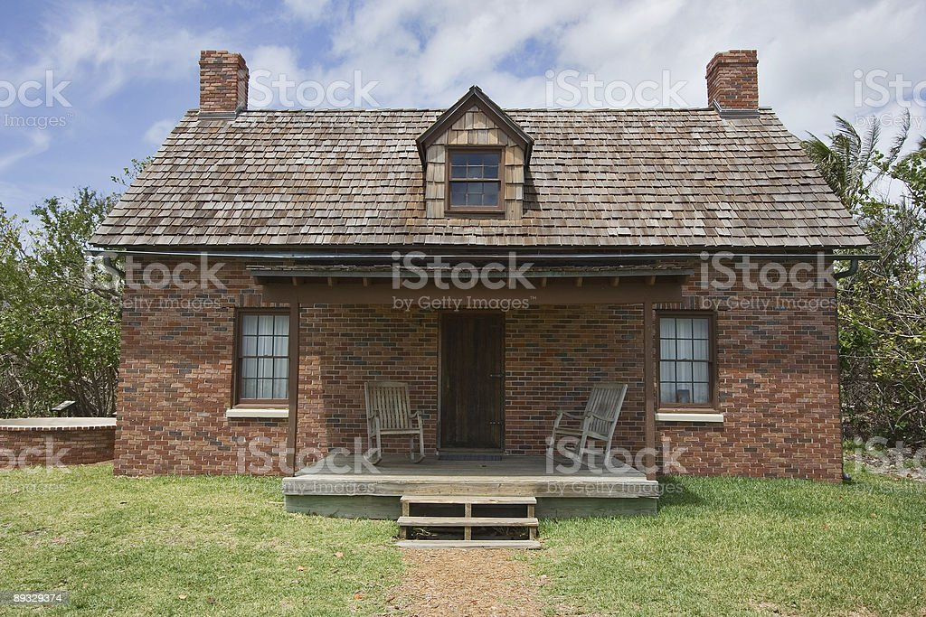 Cape Florida Lighthouse and its Keepers Cottage Interior stock photo