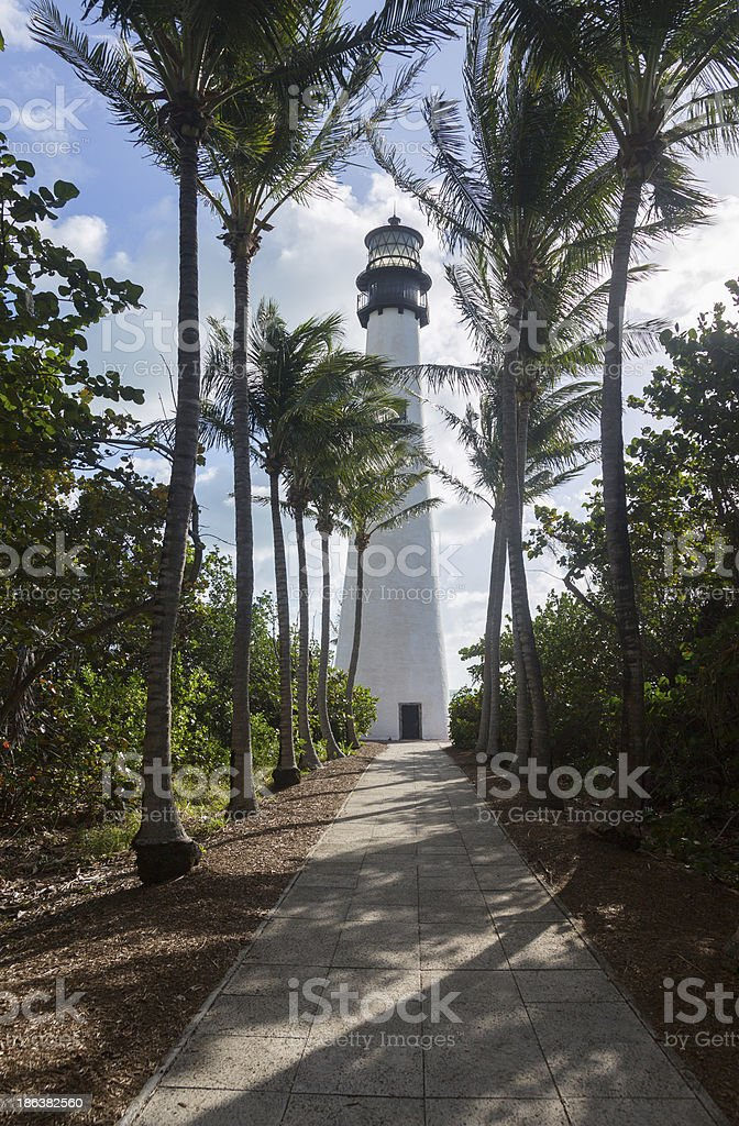 Cape Florida lighthouse in Bill Baggs royalty-free stock photo