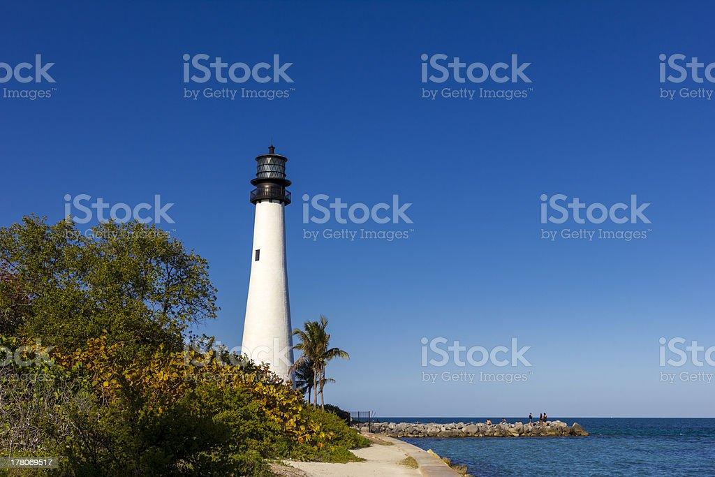 Cape Florida Lighthouse Miami stock photo