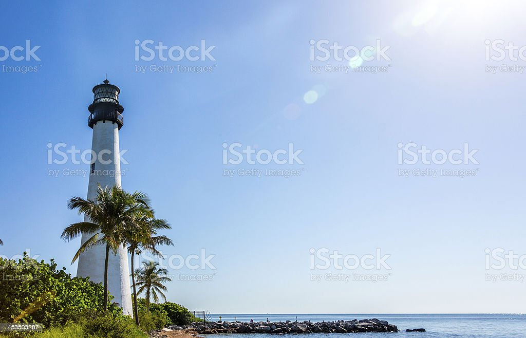 Cape Florida Lighthouse stock photo