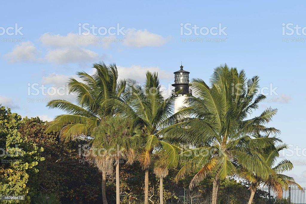 Cape Florida Lighthouse stock photo