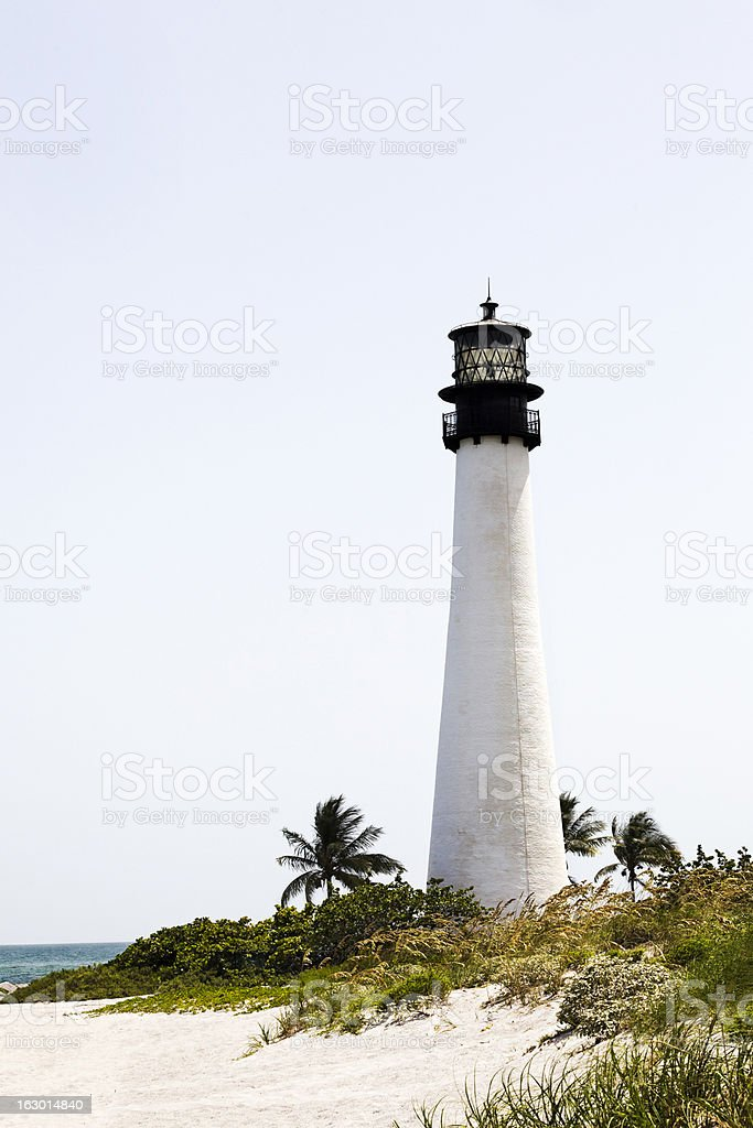 Cape Florida Lighthouse Seashore stock photo