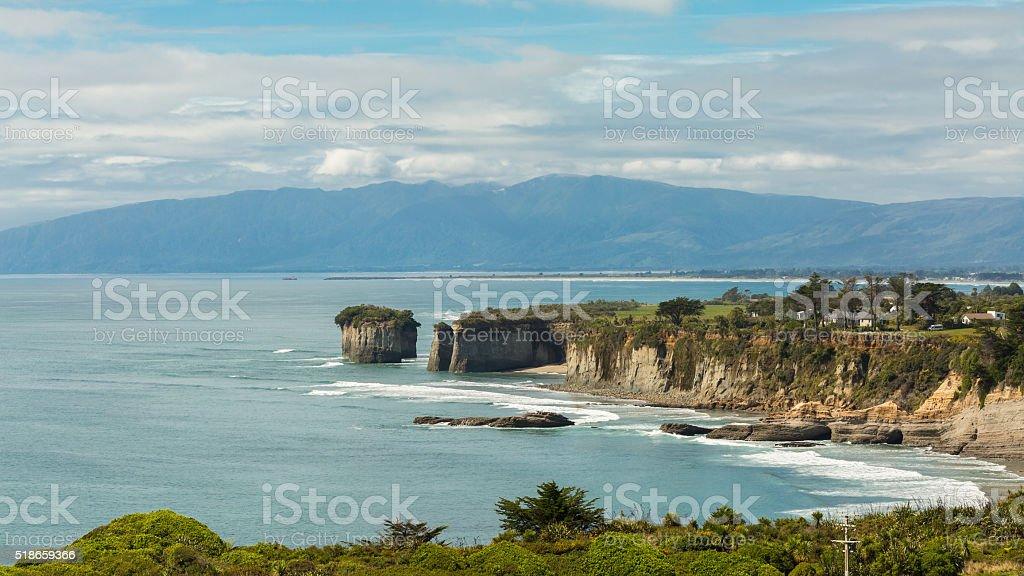 Cape Foulwind, south Island, New Zealand stock photo