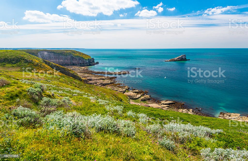 Cape Frehel, Bretagne stock photo