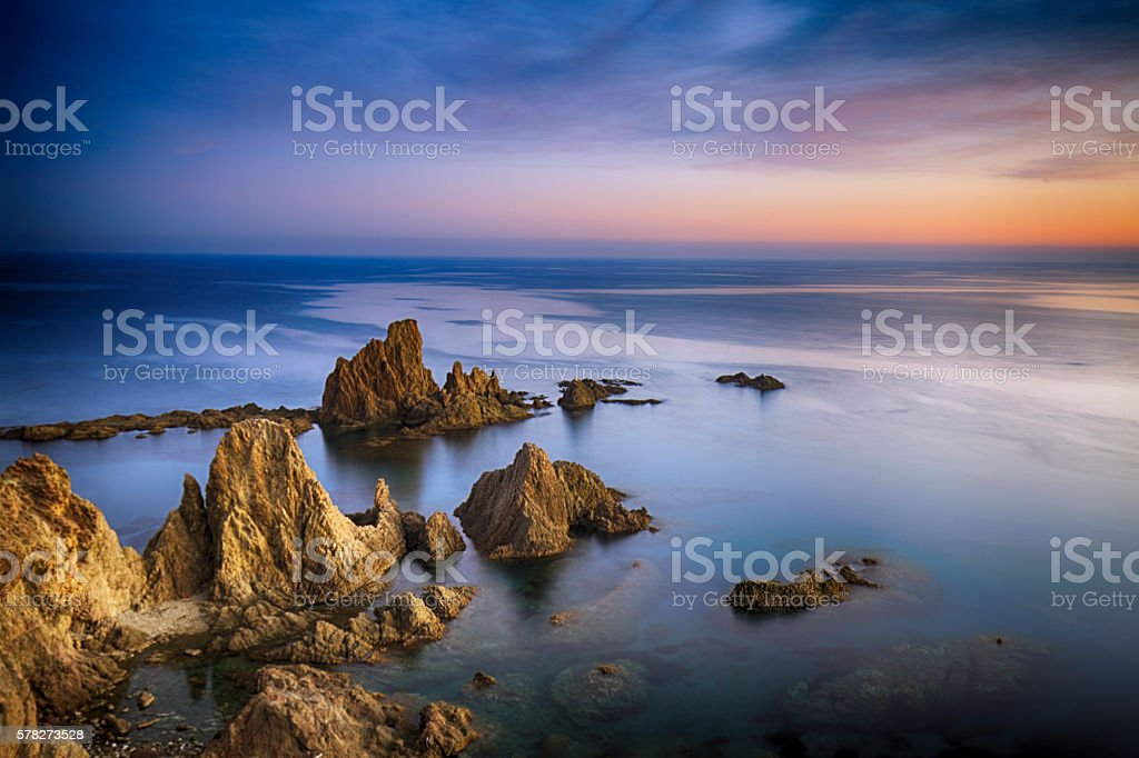 Cape Gata- Almeria, Spain stock photo