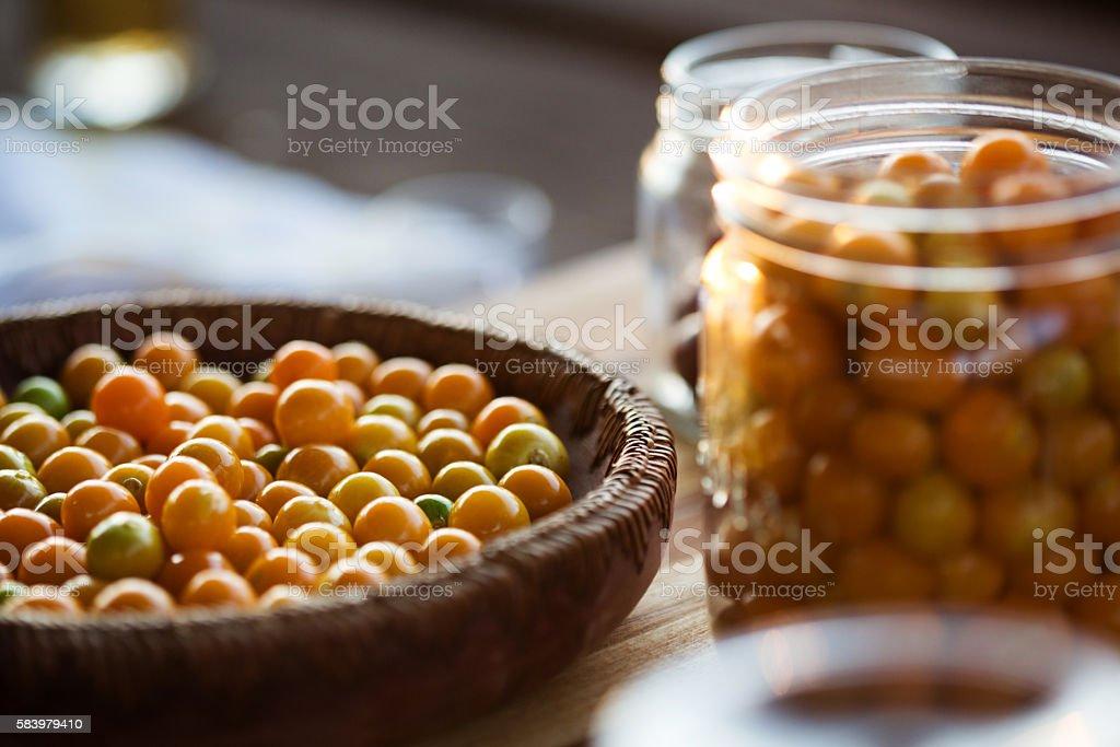 Cape Gooseberries stock photo