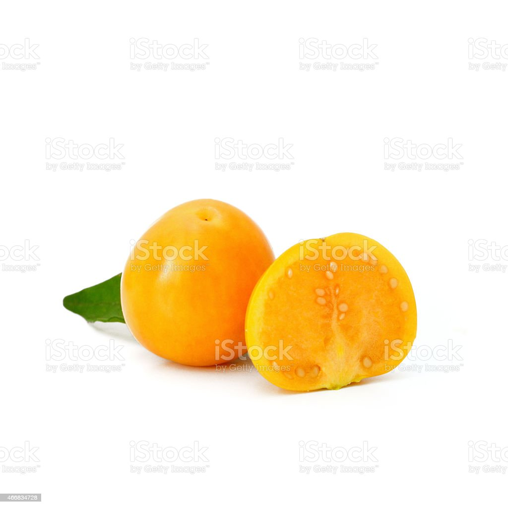 cape gooseberry fruit stock photo